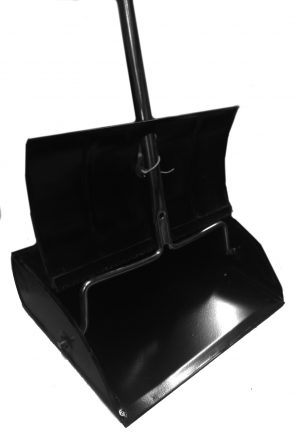 12 inch Lobby Dust Pan Metal w/Handle