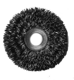2-1/2 and 3 inch Ring Brush .014 carbon 1/2 inch arbor