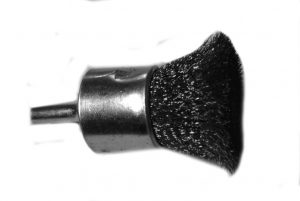 1/2 and 1 Solid End Brush .006 Stainless 1/4 inch Shank