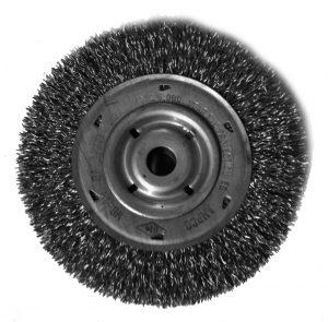 6 inch Wire Wheel .014 Bronze 5/8 inch Arbor